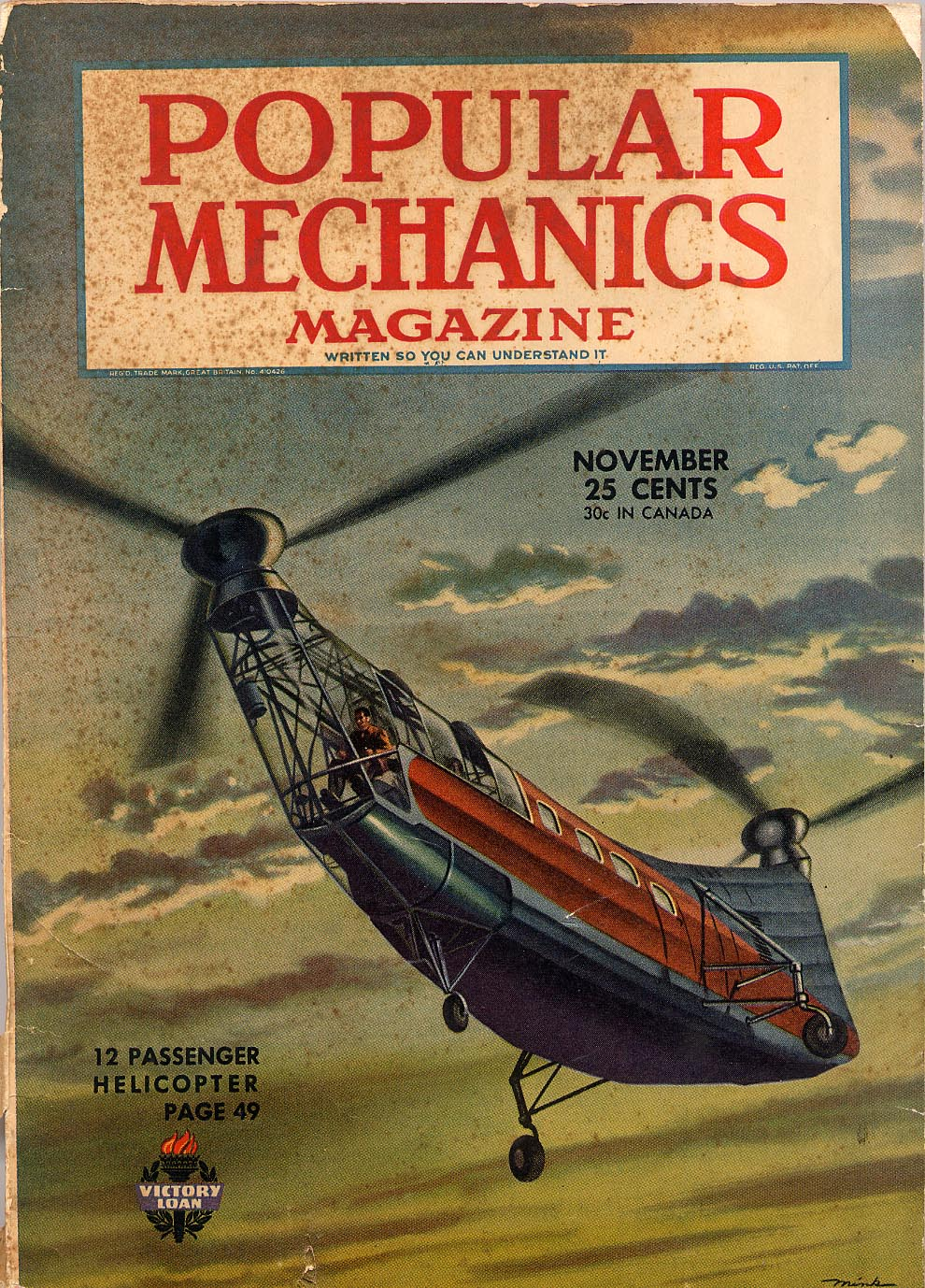 Cover of Popular Mechanics Magazine Nov. 1944
