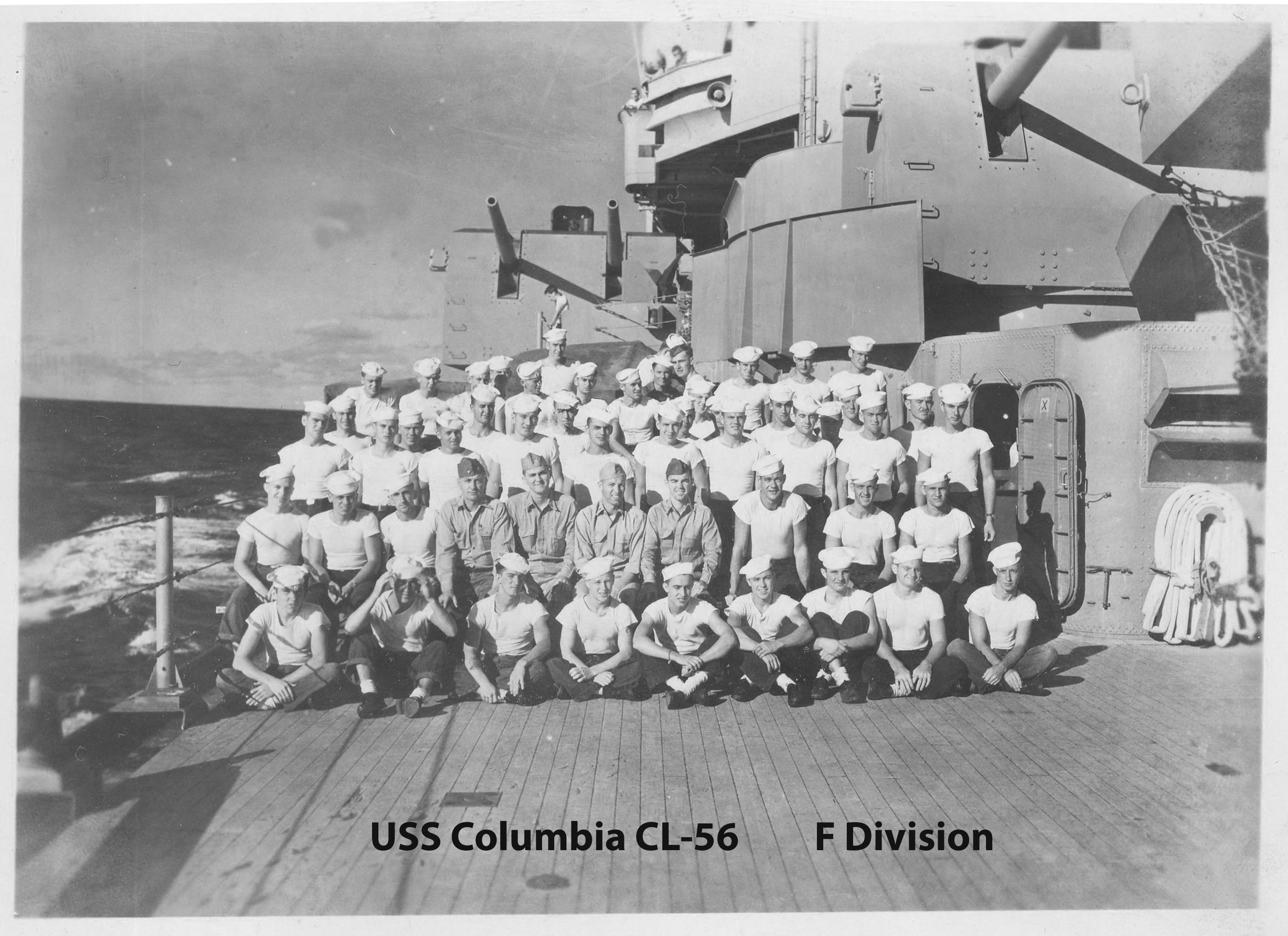 Picture of F Division on the quarterdeck