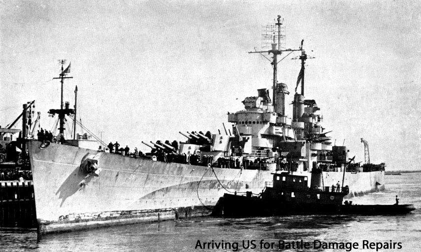 Columbia arriving US Jan 1945