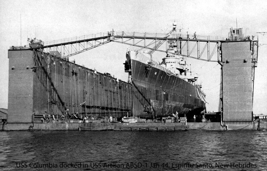 Docked in ABSD1 January 20, 1945