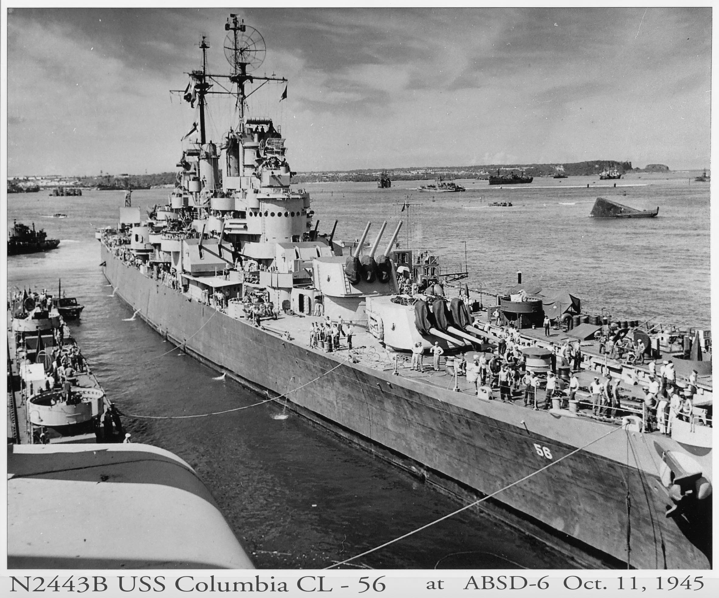 Columbia entering ABSD-6 starboard side view