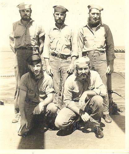 5 men with beards