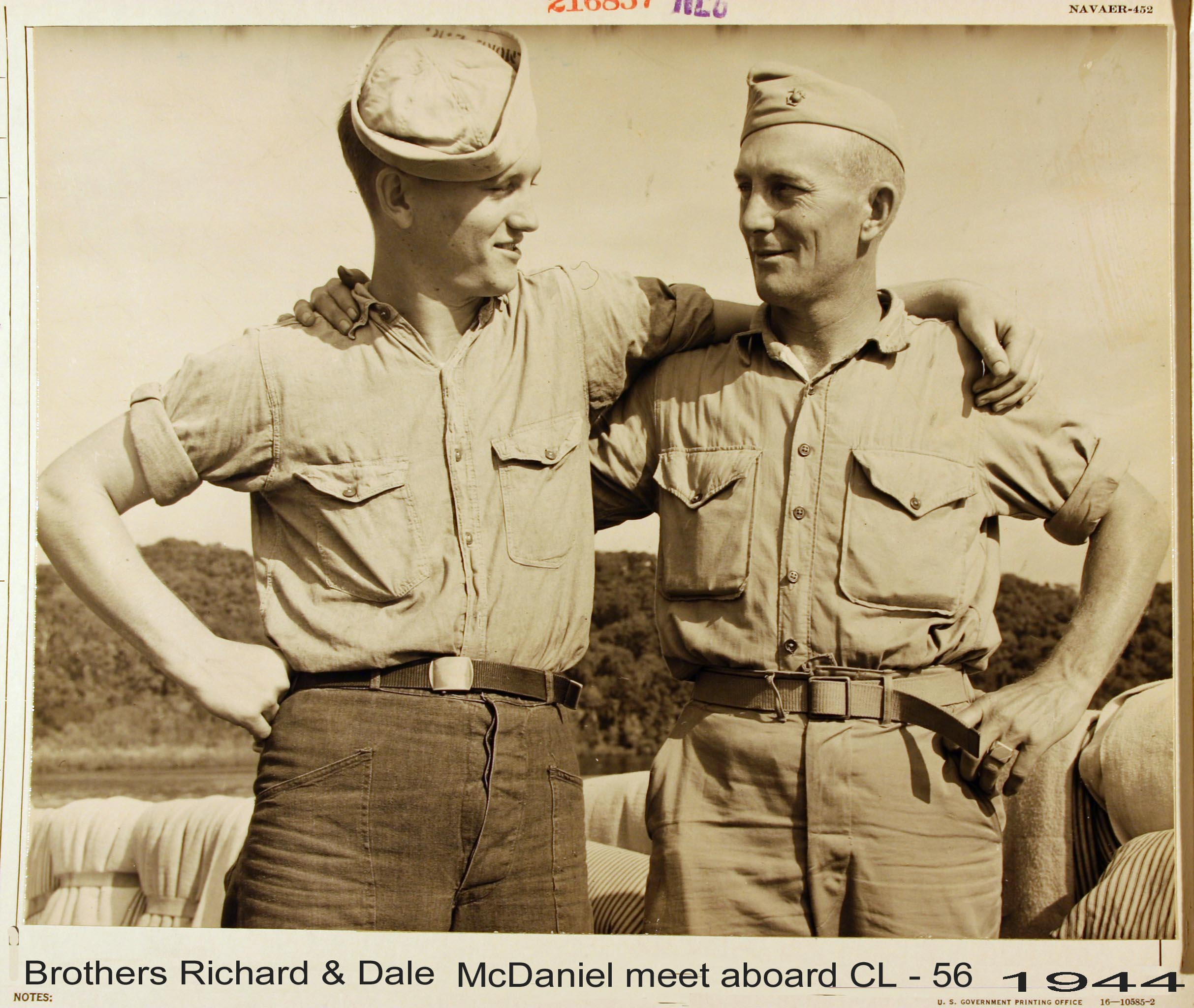 Brothers Richard and Dale McDaniel 1944