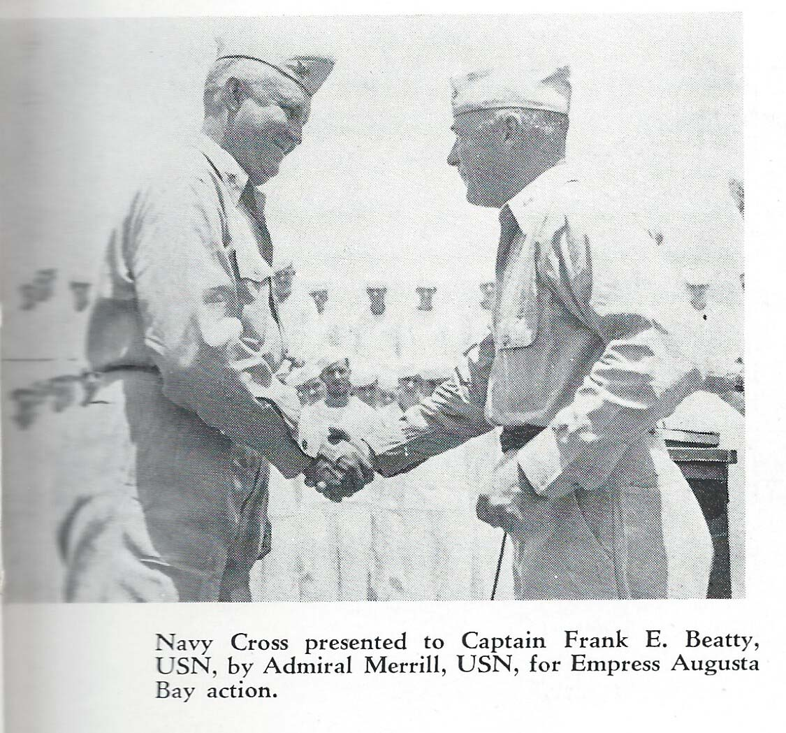 Captain Beaty receives Navy Cross