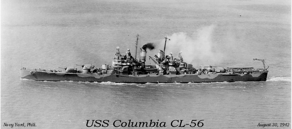 Columbia in Navy yard
